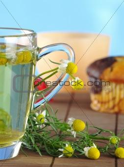 Chamomile Tea and Flowers
