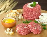 Preparing Meatball with Ingredients