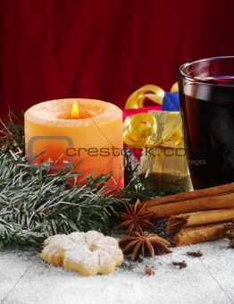 Candle and Mulled Wine
