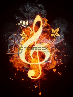Clef in Fire