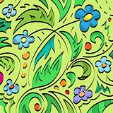 Floral brush background