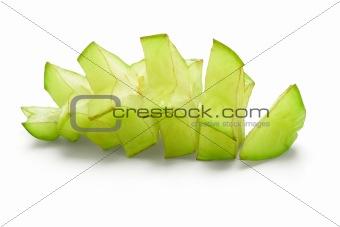 Sliced star fruit