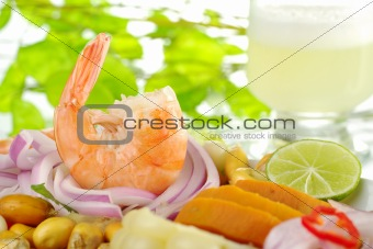Prawn Ceviche with Pisco Sour