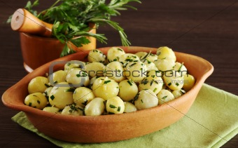 Small Potatoes with Herbs
