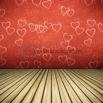floor hearts