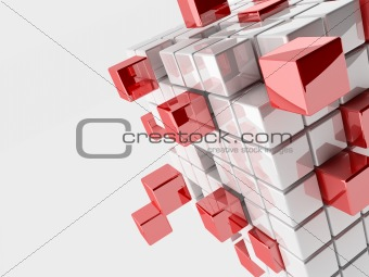Abstract 3d illustration of cubes