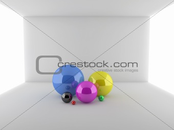 Abstract 3d illustration of spheres