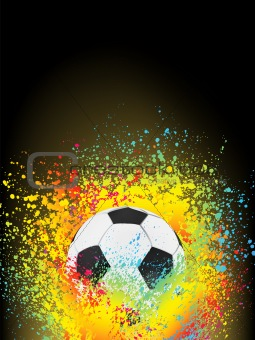 Abstract background with a soccer ball. EPS 8