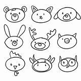 cartoon animal head doodle