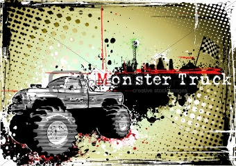 monster truck poster