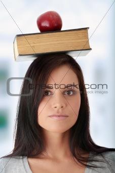 Beautiful student woman