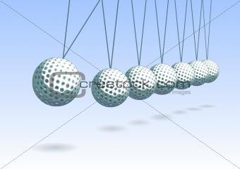 Balancing golf ball