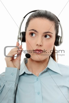 Call center woman