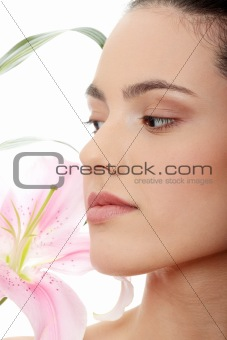 Spa woman with flower