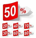 vector set of discounts