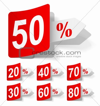 vector set of discounts