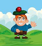 Cute cartoon of scotsman