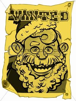 A wanted Santa poster