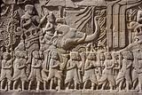 Carving on temple wall – Angkor – Cambodia