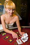 bride in a casino