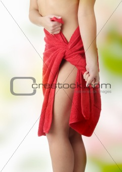 Nice shape of female body