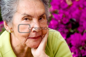 beautiful senior woman portrait