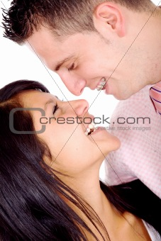 couple looking happy - portrait