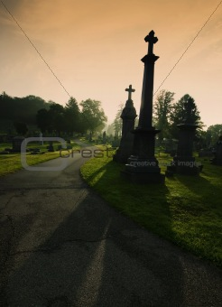 Cemetary Silhouettes