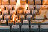The burning keyboard