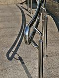 metallic handrail