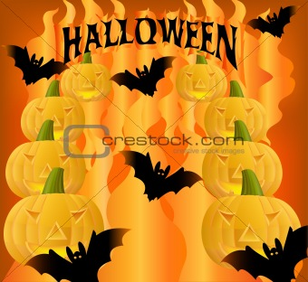 Abstract  helloween background
