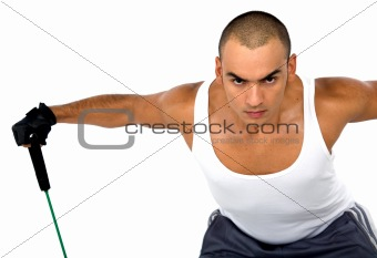 fitness guy training