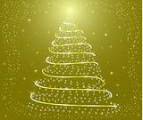 Abstract  Christmas Tree - vector