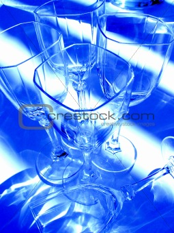 Abstract wine glasses