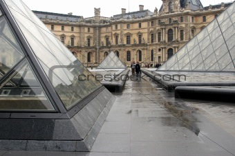 At Louvre Entrance