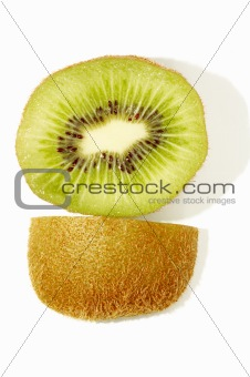 kiwi slice and its skin