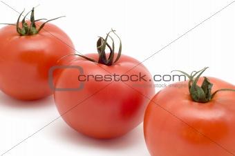Three tomato close up