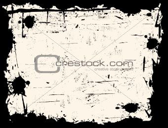 Black Grunged Border with Biege Background