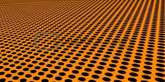 Floor of Warped Black Circles