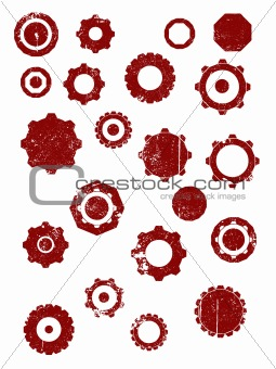 Grunge elements - Cogs and wheels