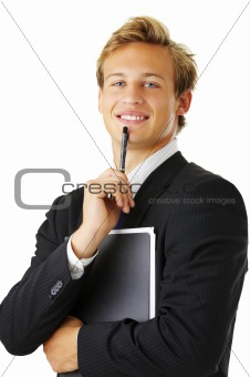 Portrait, young business man