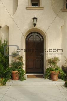 Modern Front Doorway & Patio