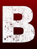 Fat Grunge Letter B