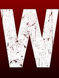 Fat Grunge Letters - W