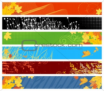 floral website banners / 468x60 &amp; 730x90 sizes