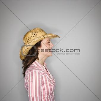 Cowgirl profile.