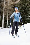 Female skier.