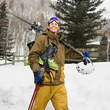 Man with ski gear.