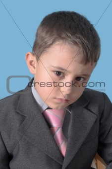 boy with suit