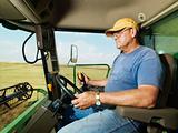Farmer in combine.